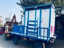 04 Seater PPGI Puff  Mobile Toilet Van