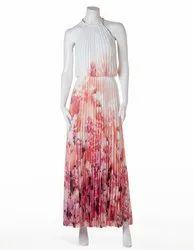 Off White Printed Maxi Dress