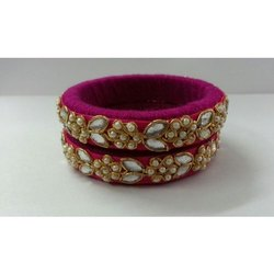 Beautiful Party Wear Thread & Stone Bangle