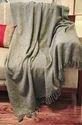 Cotton Solid Gray 50X60 Boho Bhomain Tassel Sofa Throw