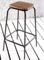 Brad Counter Bar Stool With Wooden Top