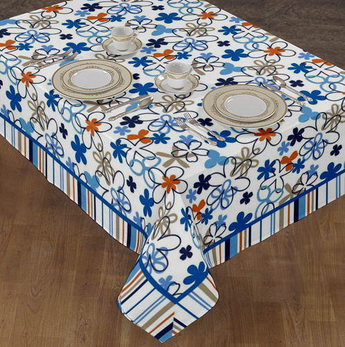 Airwill Label 100% Cotton Multi Color Indian Table Cloth, Size: 140 X
