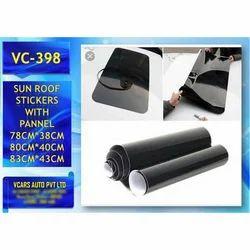 PVC Black Car Sunroof Sticker, Packaging Type: Roll