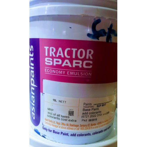 Asian Paints Tractor Sparc Emulsion Paint Packaging Size 20 L Packaging Type Can Rs 1660 20 Litre Id 21328319712