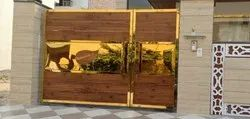 Gold Look Stainless Steel Gate