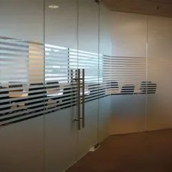 Transparent PVC Frosted Glass Film, For Office, Packaging Type: Roll