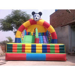 Multicolor Mickey Mouse Inflatable Slide Bouncy