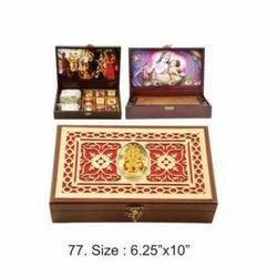 Wooden Brown Wedding Card Box