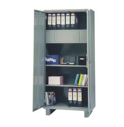Stainless Steel Cupboard Office Almirah With Locker, Warranty: 1 Year