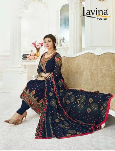 bac3428815 Work Suits - Natural Mystic Ganga Ethnic Wear Embroidery Work Suits  Manufacturer from Surat