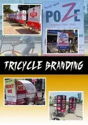 Tricycle Advertising Service, Size: 4'6', rajasthan
