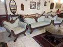 Teak Wood Carved Sofa