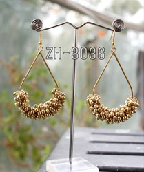 Golden Ghungru Earring