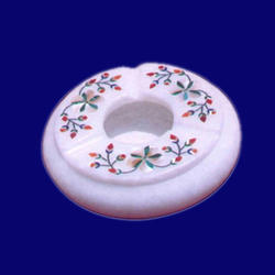Marble Ashtray With Flower Design