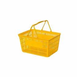 Yellow Plastic Shopping Basket