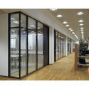 Transparent Office Clear Partition Temper Toughened Glass, Thickness: 12.0 Mm, Shape: Flat