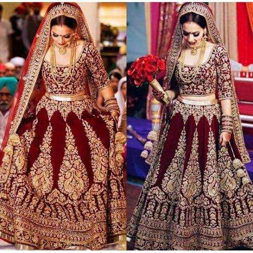 3fa66d111d Shahi Lehenga All Sizes Handicraft Bridal Lehenga On Rent, Rs 11000 ...
