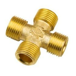 Brass Male Cross