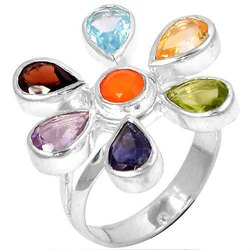 92.5 Sterling Silver Chakra Rings