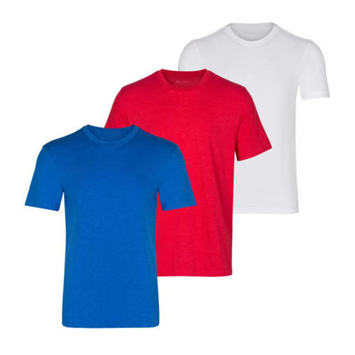 Men Polyester Round Neck T Shirts