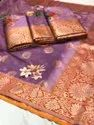 The Beautifully Crafted Zari Pallu And Border Add To The Grace And Charm Of The Handloom