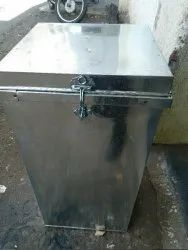 Tin Grain Storage Box or Rice Container At Wholesale Price, Material Grade: Galvanized Steel, Capacity: 50 Kg