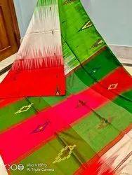 Handloom Temple Designer Sarees, 6 m (With Blouse Piece)