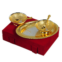 Different Gift Silver & Gold Plated Bowl Set