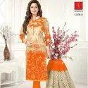 Long Unstitched Salwar Suit