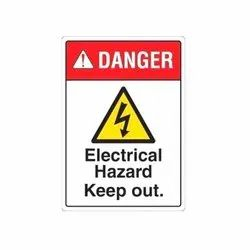 Electrical Hazard Safety Sign Board