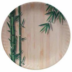 Green Bamboo Magnetic Shape Melamine Plate