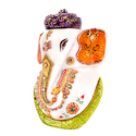 Marble Ganesh with Turban 5 inch