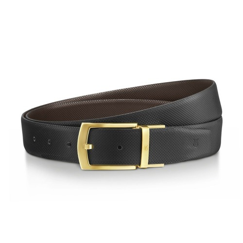 Male Black Men Reversible Leather Belt