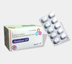 Diclofenac Potassium, Paracetamol & Serratiopeptidase Tablets