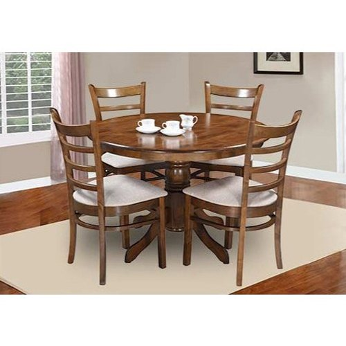 4 Seater Round Wooden Dining Table