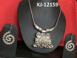 Kaizer Jewelry Female Tribal German Silver Chain Necklace Set