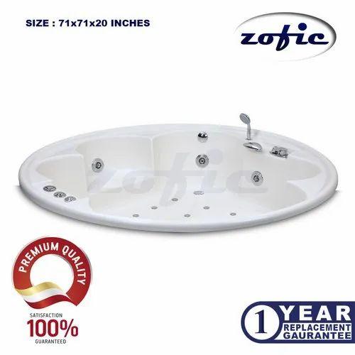 Round Bath Tubs 6 Feet Round Whirlpool Jacuzzi Bathtub Wholesale Trader From New Delhi
