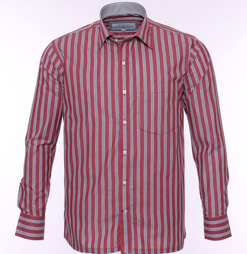 9ba60a25804f0 44.0 8163 Red Formal Shirt With White And Black Lining, Rs 895 ...