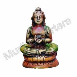 Terracotta Meditating Budha Statue, for Interior Decor