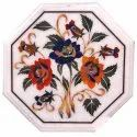 White Decorative Inlay Marble Table