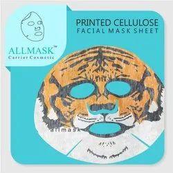 Tiger Printed Cellulose Facial Mask Sheet