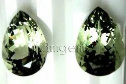 Green Amethyst Pear Gemstone