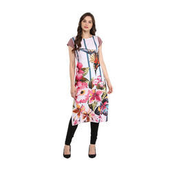 Half Sleeve Women Printed Kurta