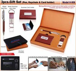 3pcs Gift Set (Pen,Keychain & Card Holder) HSN-906