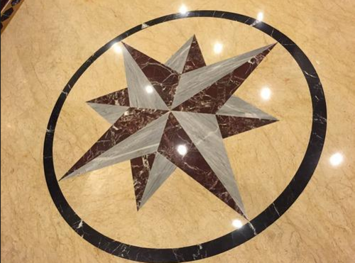 16 Square Feet Marble Floor Inlay Cutting Services