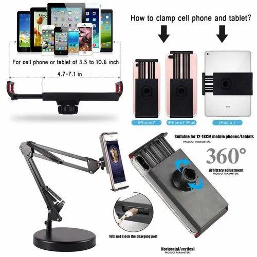 Phone Desktop Stand Desk Holders Cellphone Mounts Adjust Fit For Tablet iPad USA