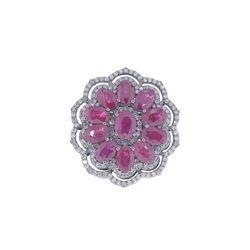 Ruby Gemstone Silver Ring