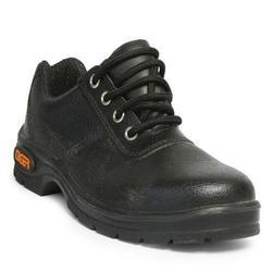 Liberty High Ankle Black Safety Shoes