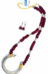 BJ001 Handmade Oxidized Thread Beads Jewellery