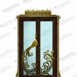 Decorative Pooja Room Door